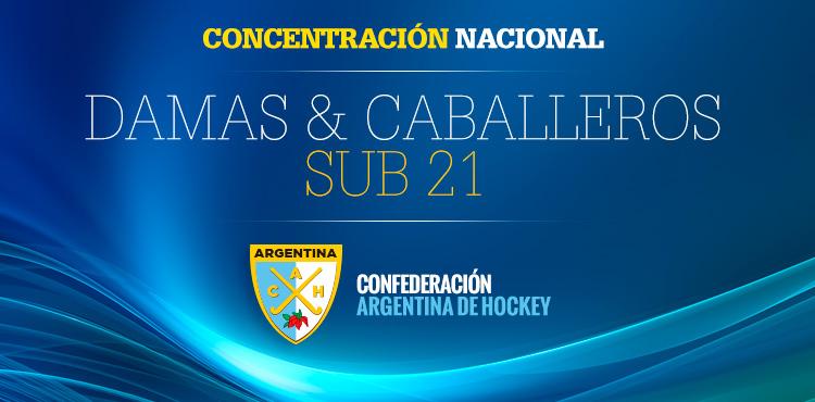CONCENTRACIÓN NACIONAL DAMAS Y CABALLEROS SUB 21