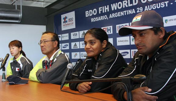 Conferencia de prensa, India 2-0 Japón