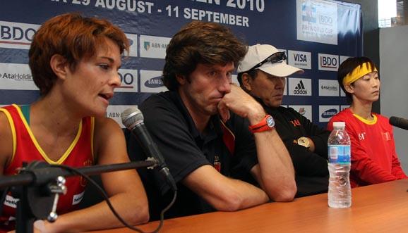 Conferencia de prensa, China 6-0 España