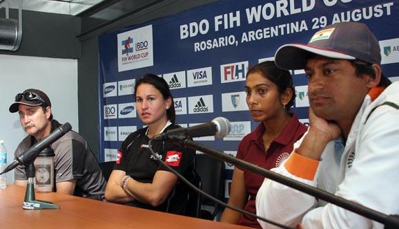 Conferencia de prensa, Nueva Zelanda 3-0 India