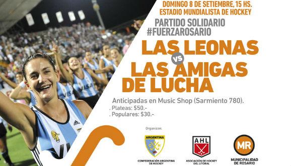 Partido solidario de Aymar y Las Leonas en Rosario
