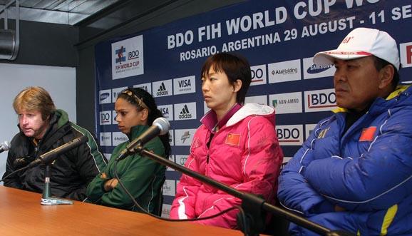 Conferencia de prensa, Sudáfrica 1-4 China