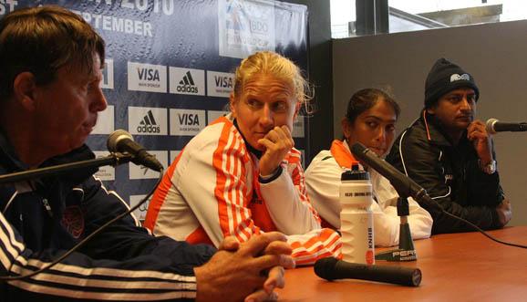 Conferencia de prensa, Holanda 7-1 India