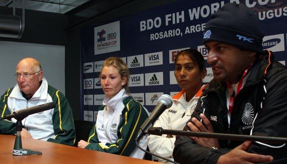 Conferencia de prensa, Australia 6-3 India