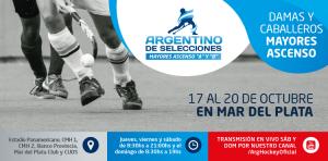 LAS DEFINICIONES DEL ARGENTINO DE SELECCIONES MAYORES ASCENSO, EN VIVO POR YOUTUBE
